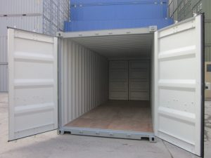 20' double door shipping container