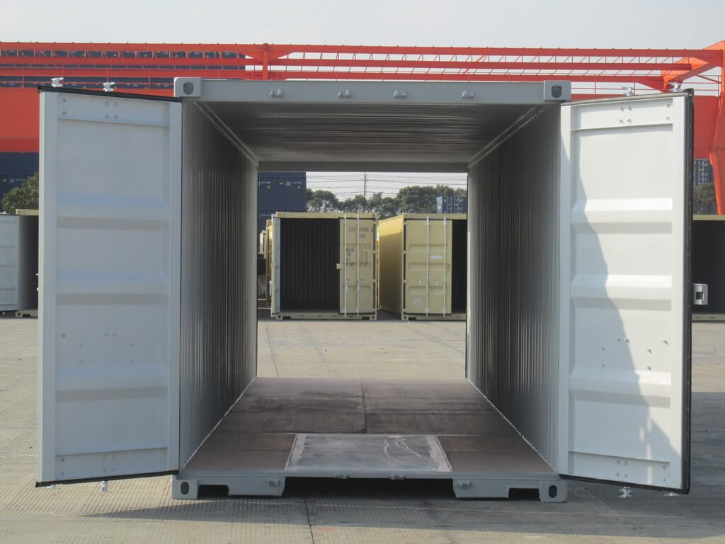 40' Double door Shipping containers for Sale - Gray