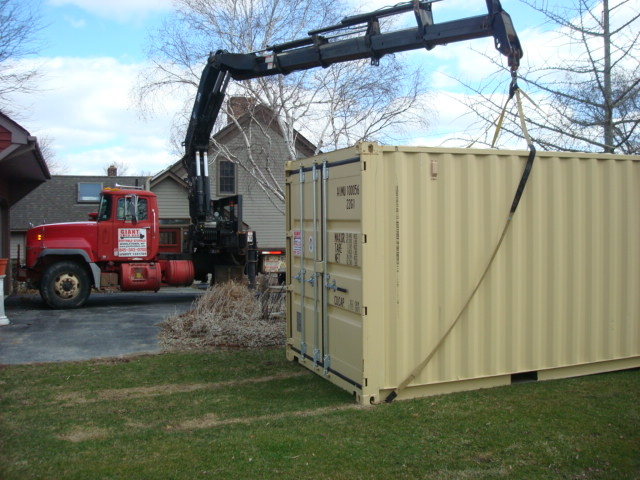 One of our storage containers we have for rent in Dutchess County, NY