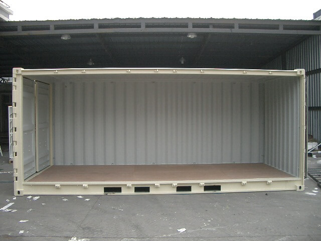 20' open-sided shipping container for sale
